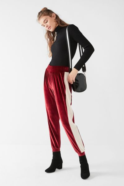 UO Striped Velvet Jogger Pant