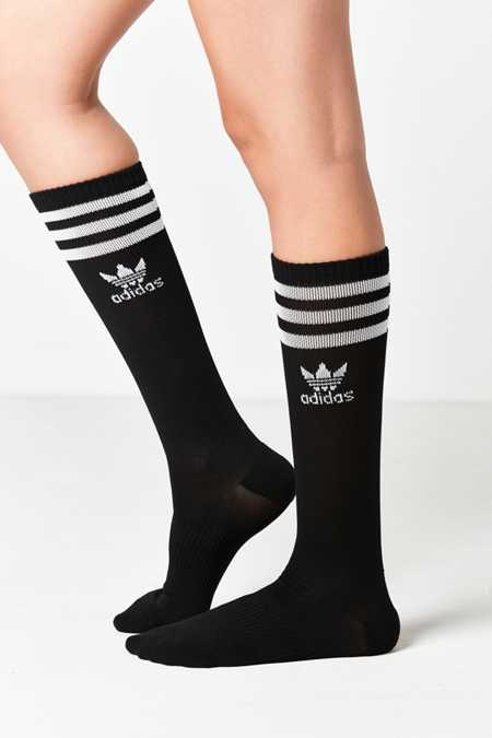 adidas Originals Black Knee High Single Roller Sock