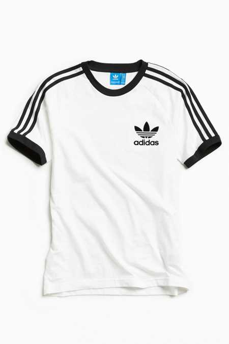 adidas California White   Black Tee