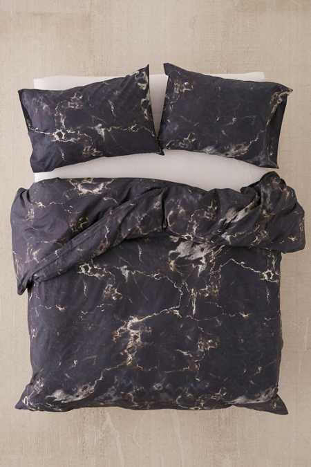 Midnight Marble Duvet Cover