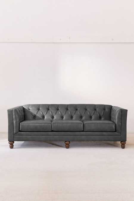 Graham Recycled Leather Sofa