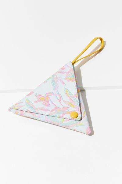 Triangle Jacquard Wristlet