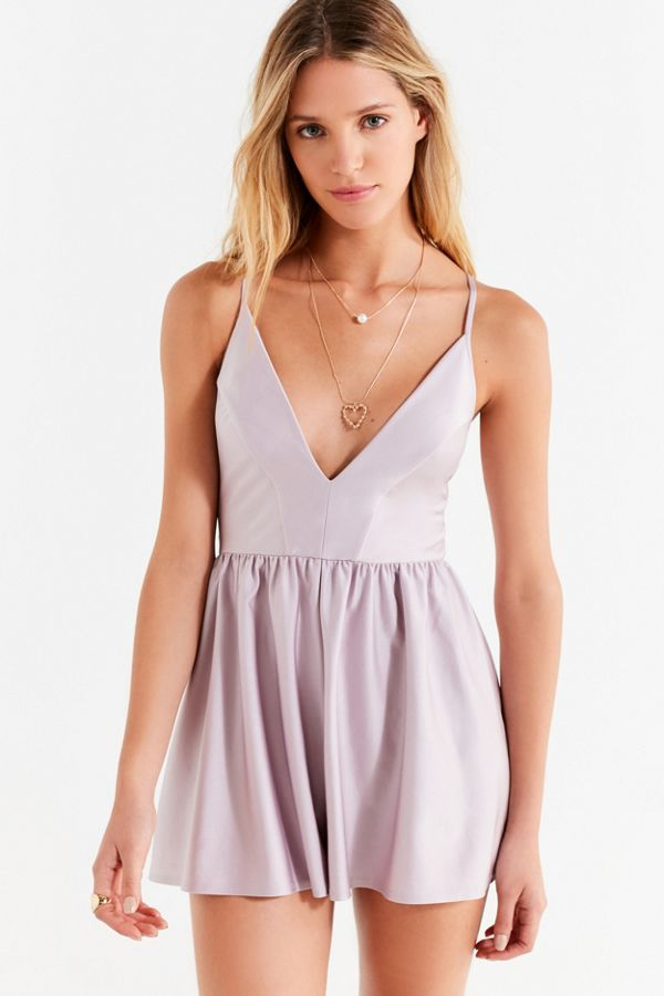 6091d73428c Kimchi Blue Vanessa Velvet Fit And Flare Playsuit Urban Outfitters ...