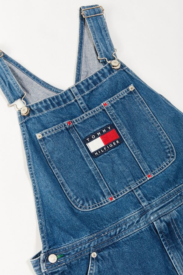 92e16734c Vintage Tommy Hilfiger 90s Embroidered Denim Overall Urban Outfitters |  2019 trends | xoosha