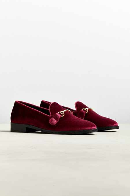 UO Sean Velvet Belgian Loafer
