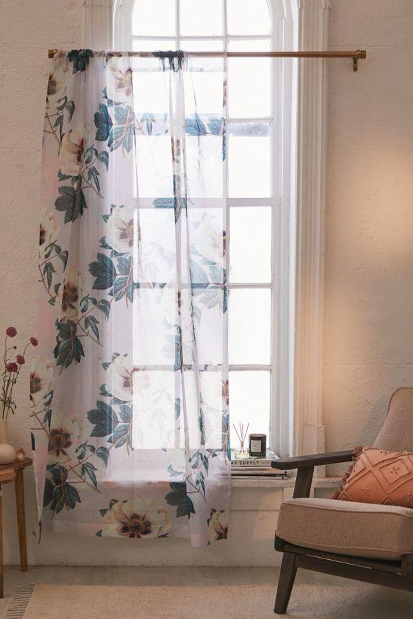 Slide View: 1: Marta B. Camarasa For Deny Sheer Flowerly Blooming Window Panel