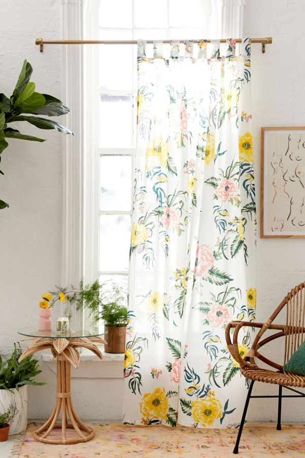 Slide View: 1: Tropical Floral Window Panel