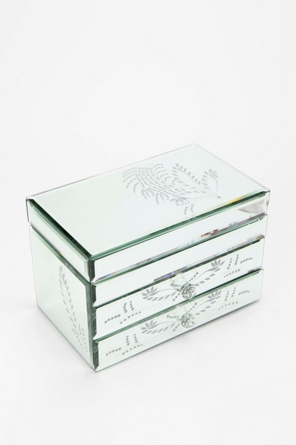 etched leaf mirrored jewelry box urban outfitters