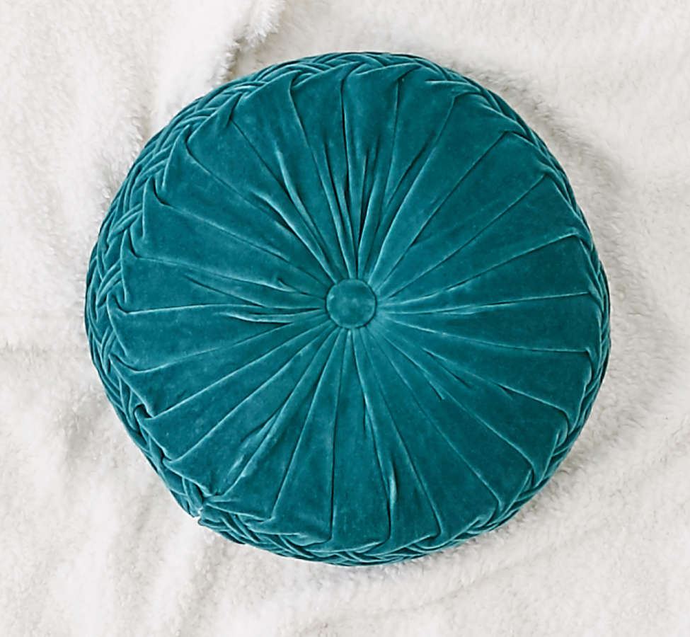 Slide View: 1: Round Pintuck Pillow