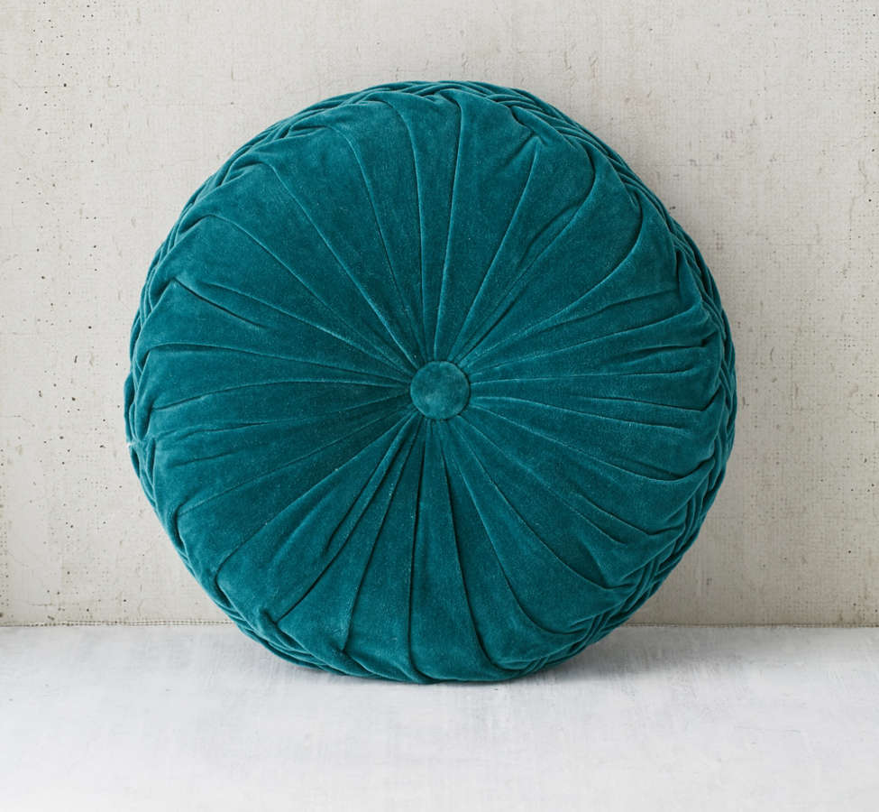 Slide View: 2: Round Pintuck Pillow