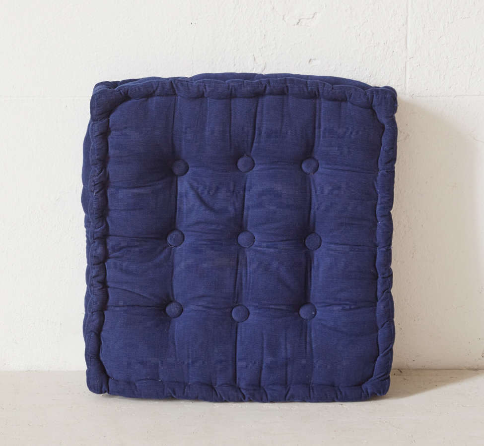Slide View: 2: Tufted Corduroy Floor Pillow