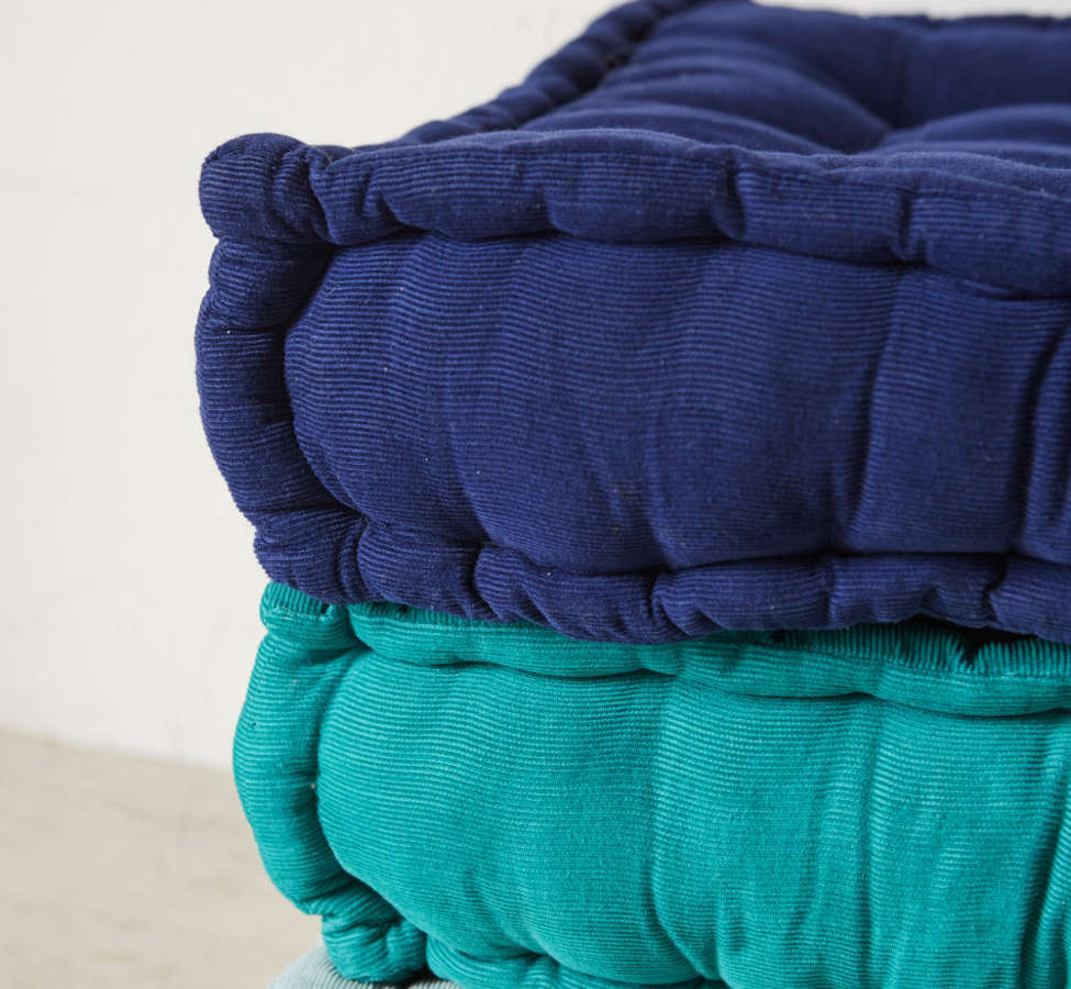 Slide View: 3: Tufted Corduroy Floor Pillow