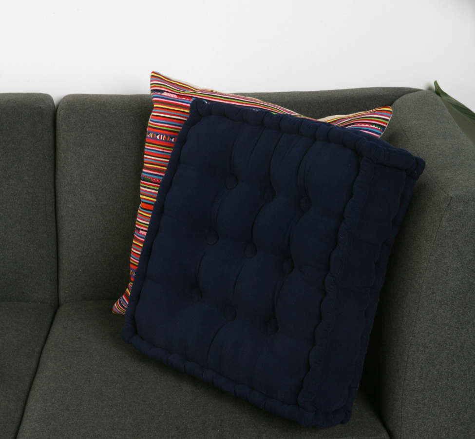 Slide View: 4: Tufted Corduroy Floor Pillow