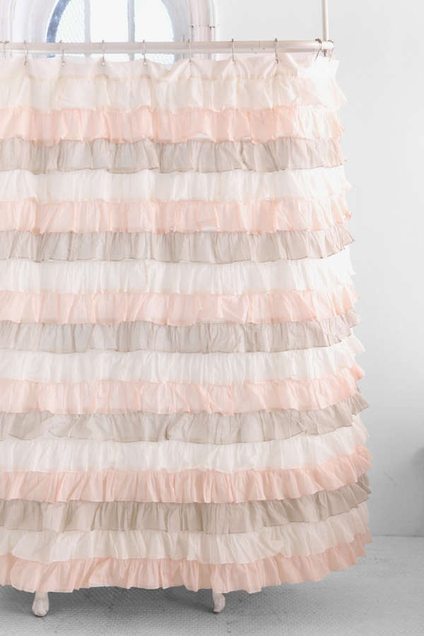 Neapolitan Ruffle Shower Curtain