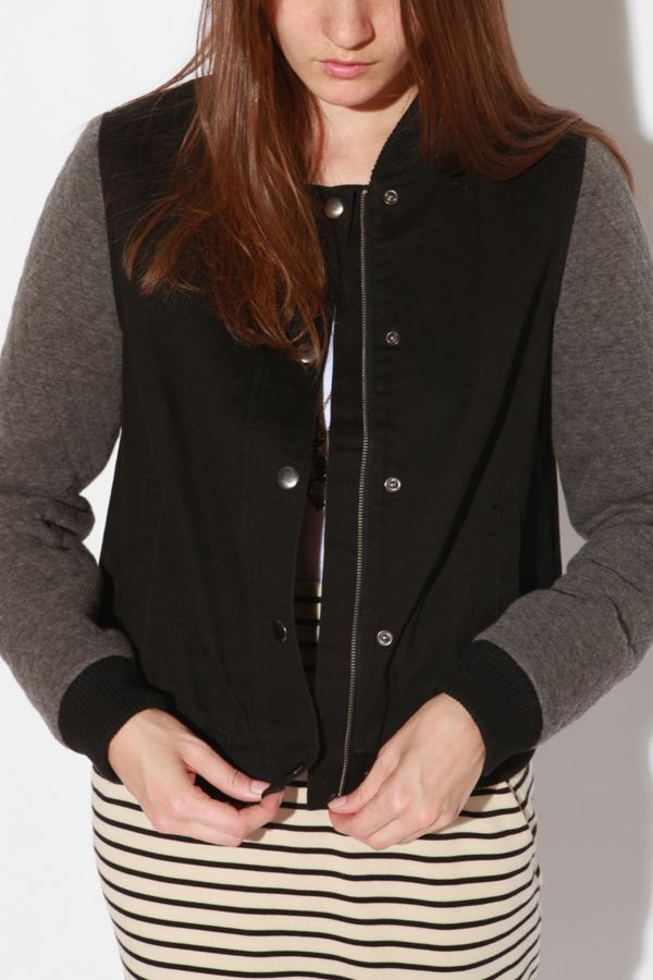 Bdg Quilted Varsity Jacket Urban Outfitters