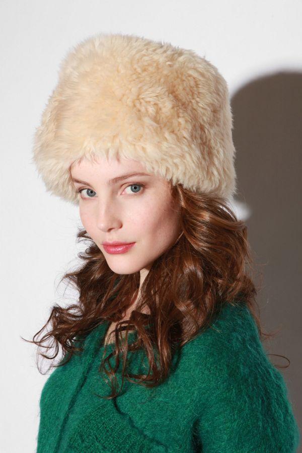 Vintage Faux Fur Hat  ec8920a5b78