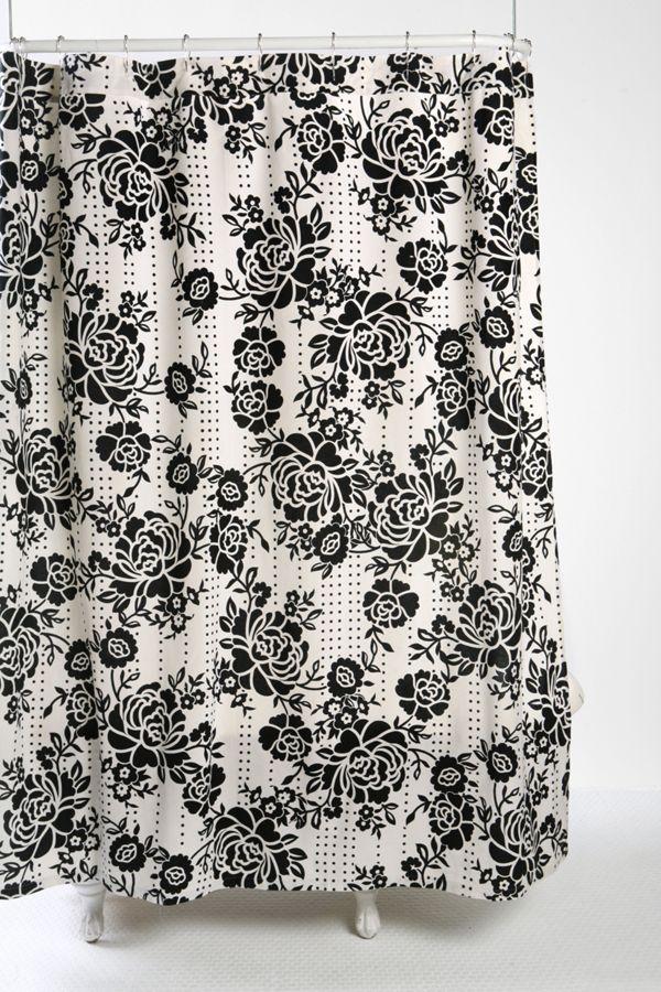 Stamped Rose Batik Shower Curtain