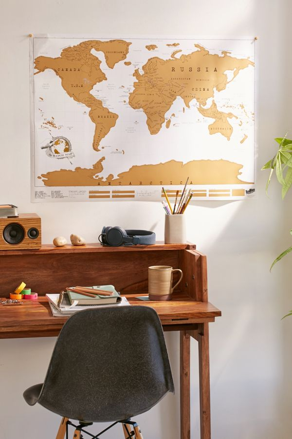 gold scratch off world map urban outfitters