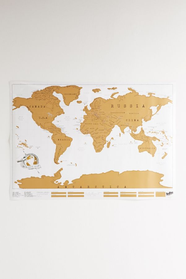 Gold scratch off world map urban outfitters slide view 2 gold scratch off world map gumiabroncs Image collections