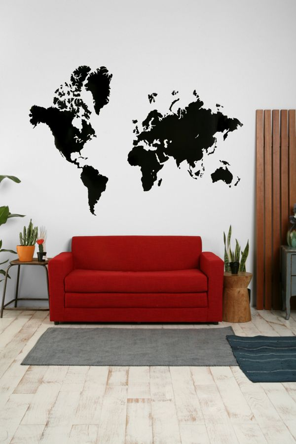 World map wall decal urban outfitters world map wall decal gumiabroncs Image collections
