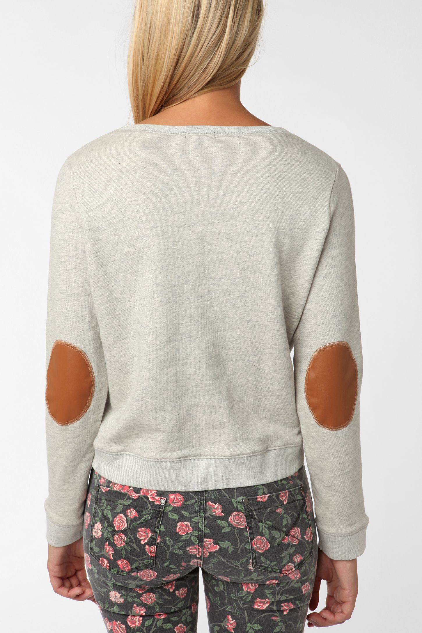 BDG Elbow Patch Pullover Sweatshirt  2542062ad