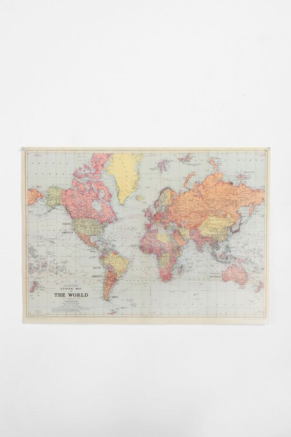 World map poster urban outfitters world map poster gumiabroncs Image collections