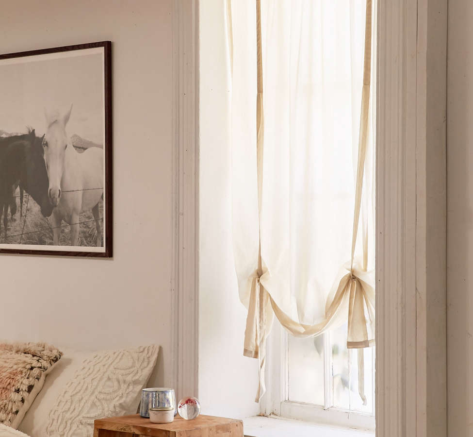 Slide View: 1: Draped Shade Curtain