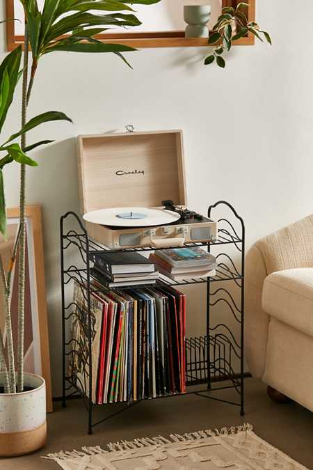 Vinyl Record Storage Shelf