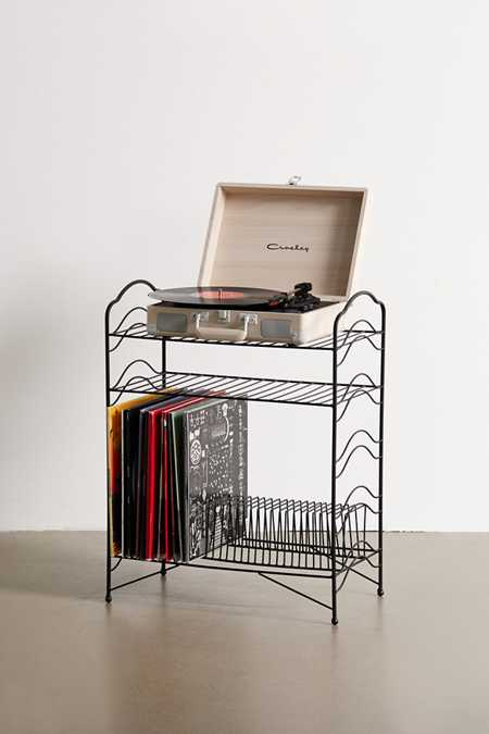 Slide View: 2: Vinyl Record Storage Shelf