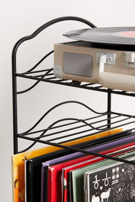Slide View: 5: Vinyl Record Storage Shelf