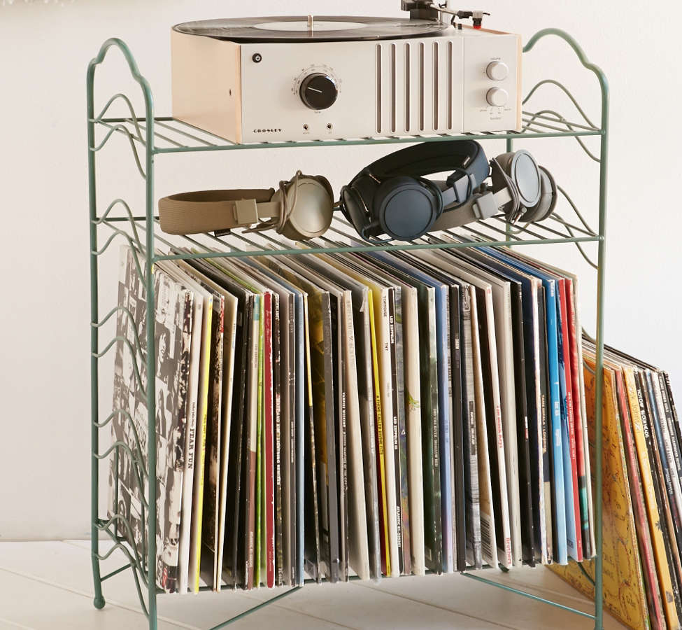 Slide View: 1: Vinyl Record Storage Shelf