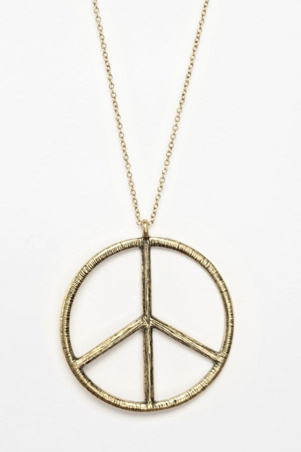 Peace sign pendant necklace urban outfitters peace sign pendant necklace aloadofball Images