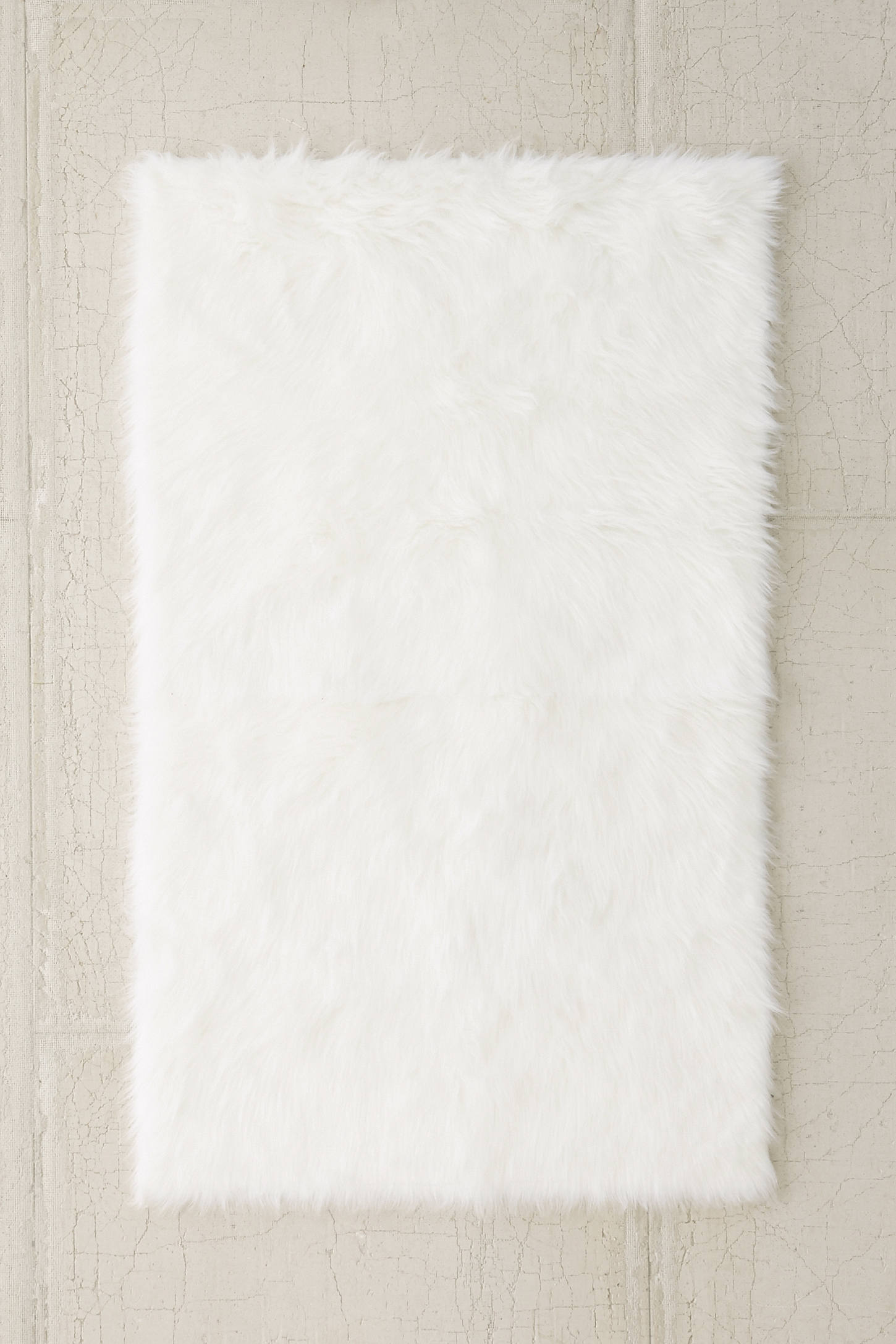 Slide View: 1: Faux Sheep Skin Rug