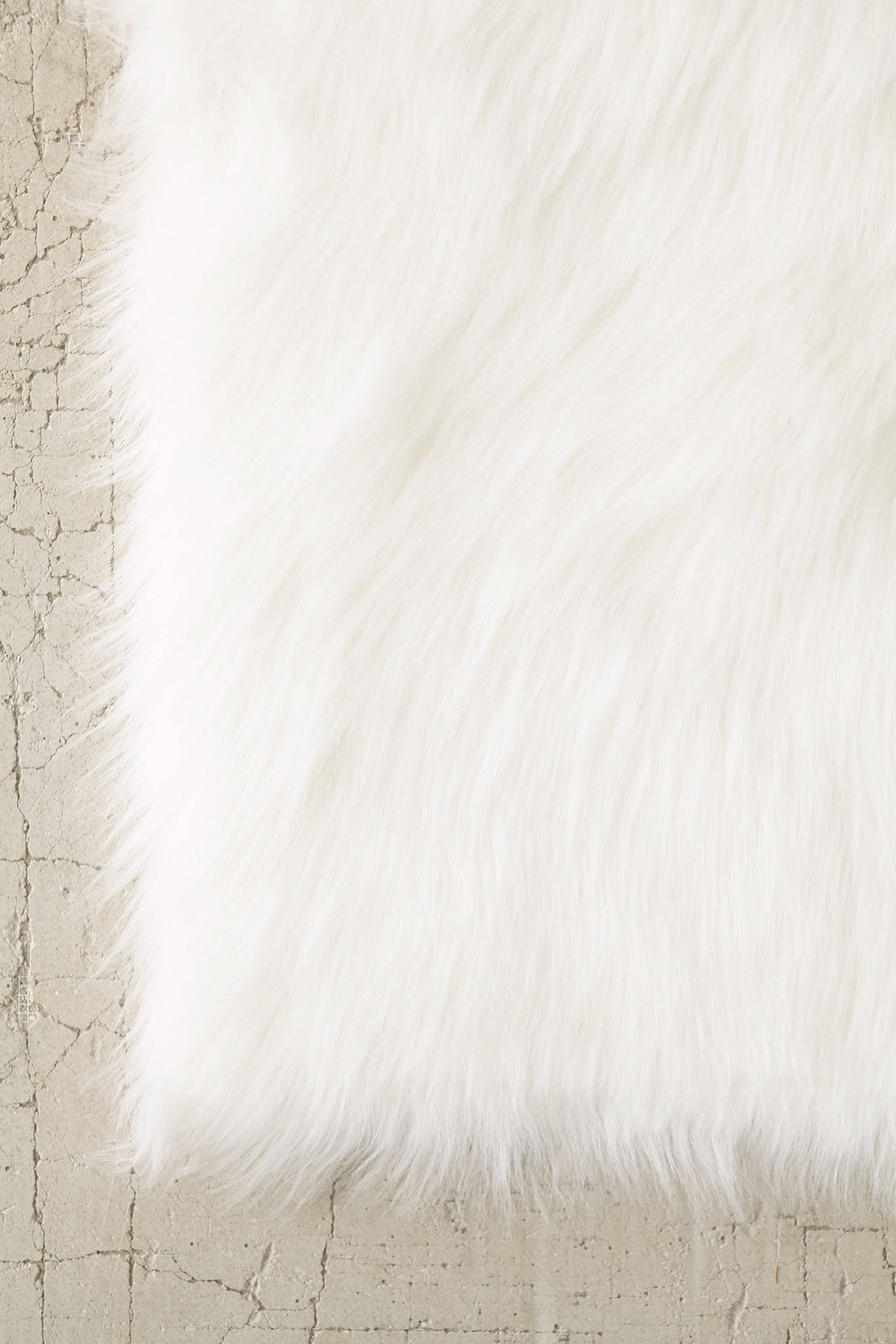 Slide View: 3: Faux Sheep Skin Rug