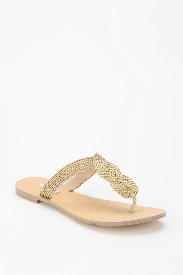 a77209d54402 Ecote Shimmery Knot Thong Sandal
