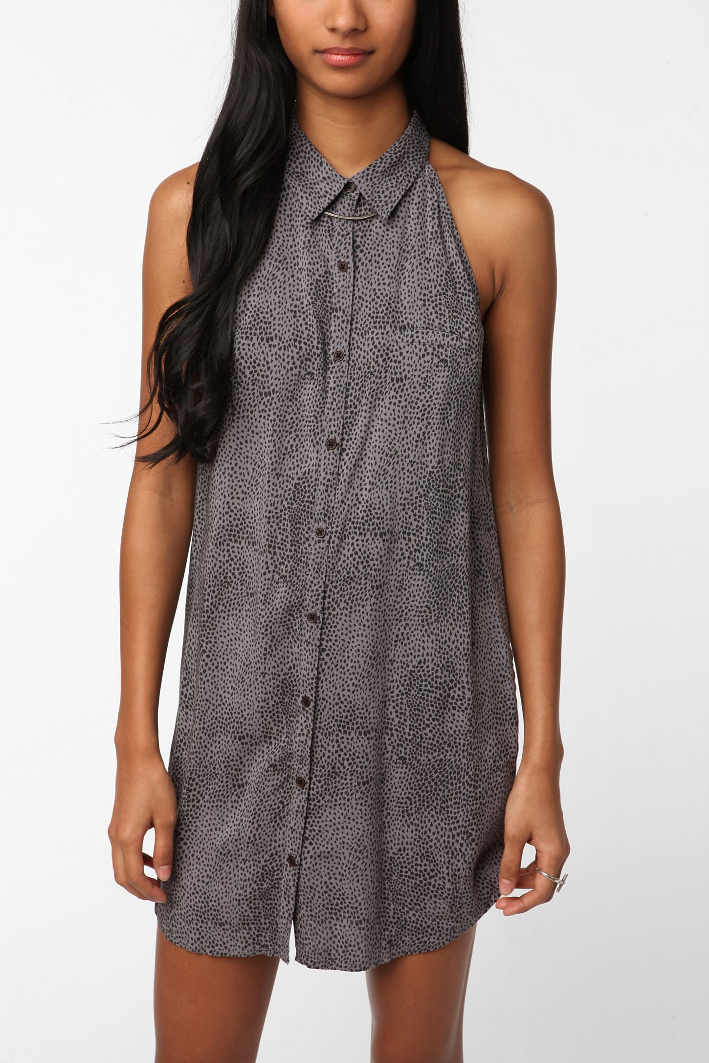 373dff75456ef Urban Outfitters Gray Shirt Dress - DREAMWORKS
