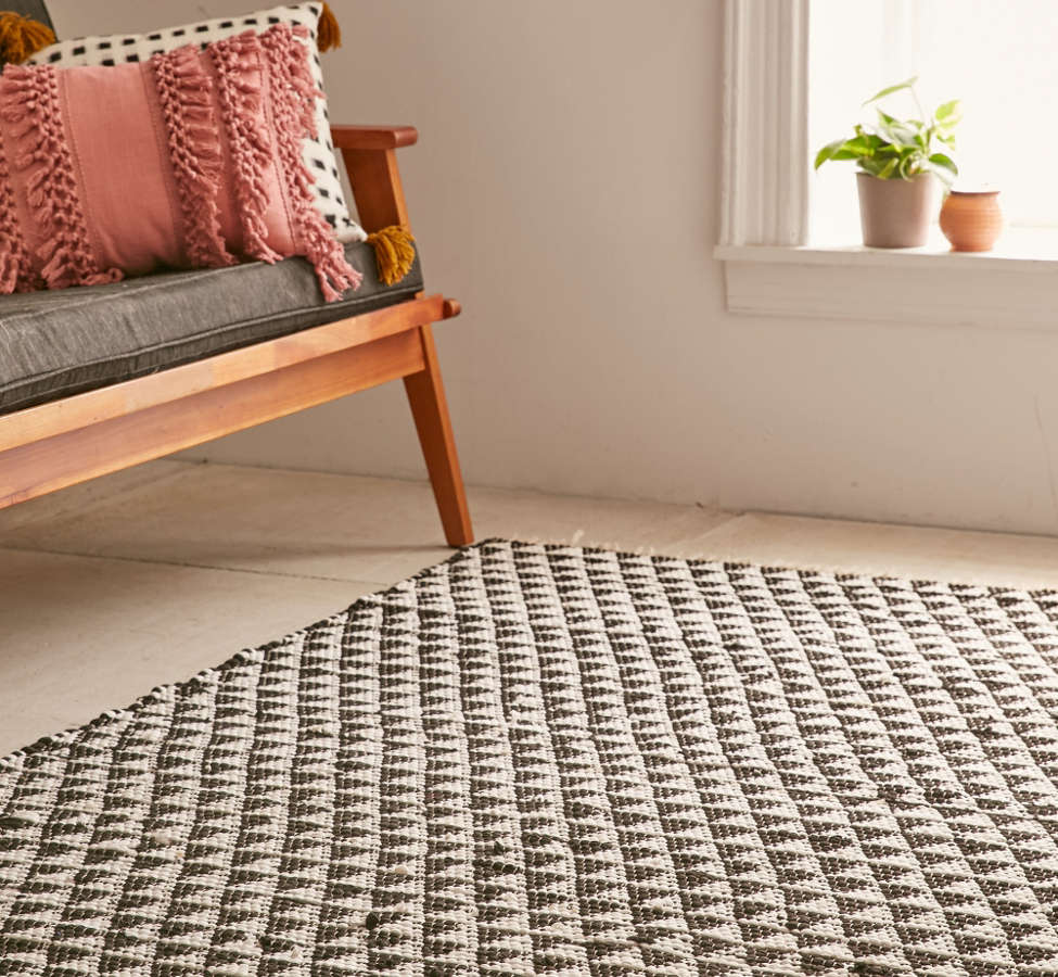 Slide View: 1: Triangle Woven Rug