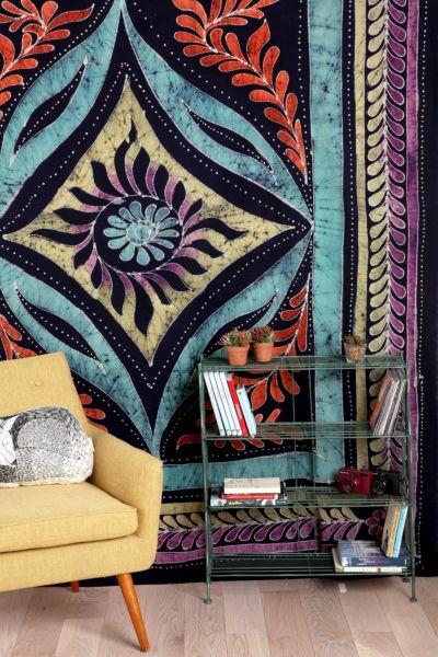 Sun Medallion Batik Tapestry