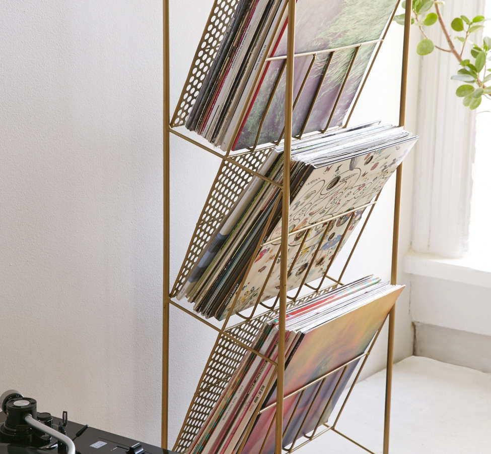 Slide View: 1: Corner Store Vinyl Storage Rack