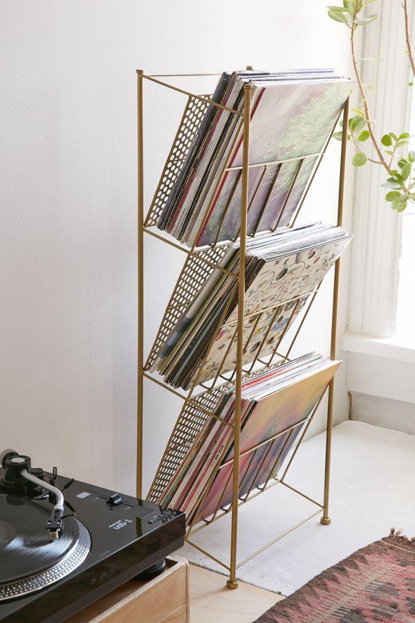 Slide View: 1: Corner Store Vinyl Storage Rack