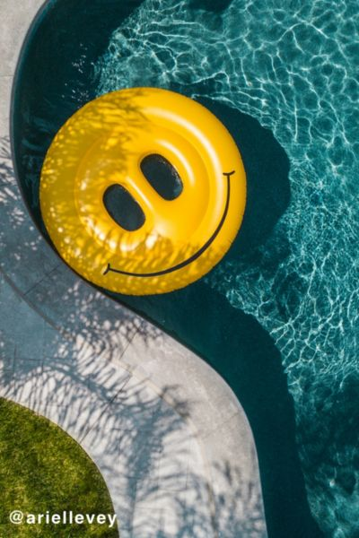 Smiley Face Pool Float - Assorted One Size at Urban Outfitters