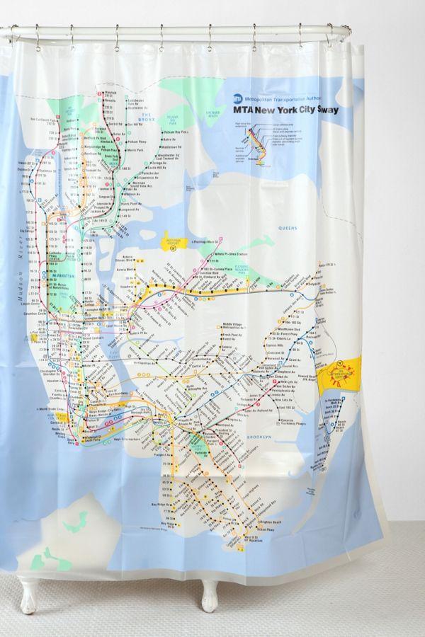 New York City Subway Shower Curtain