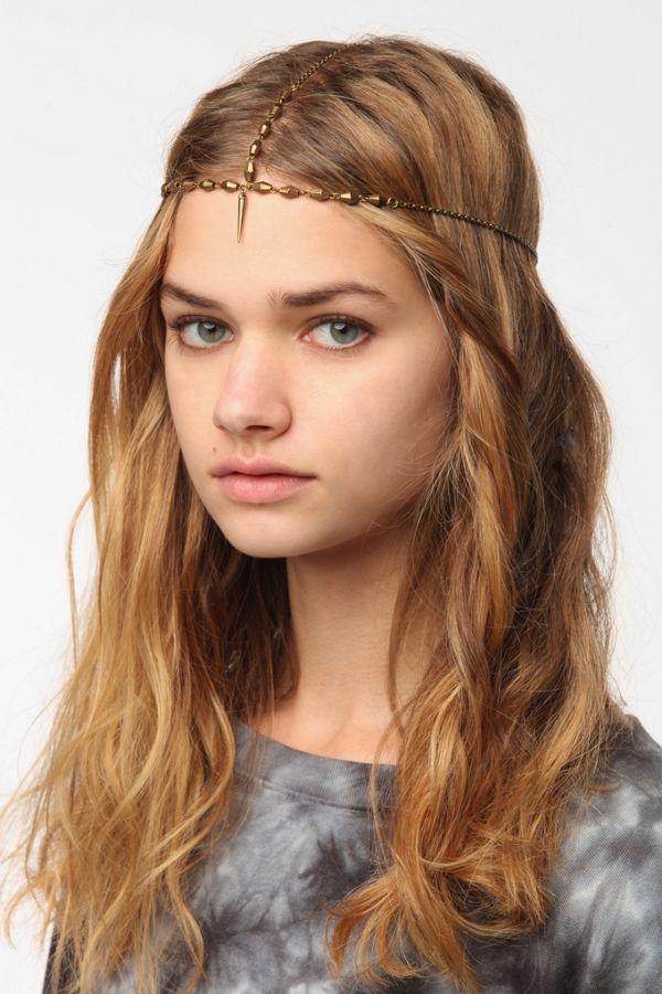 Vanessa Mooney Spike Goddess Chain Headband  e9185f08783
