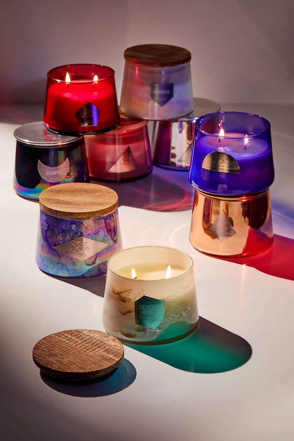 Slide View: 1: Boho Glass Candle