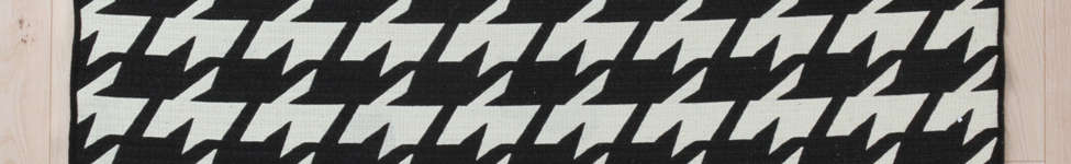 Thumbnail View 1: Wool Flat Weave Houndstooth Rug