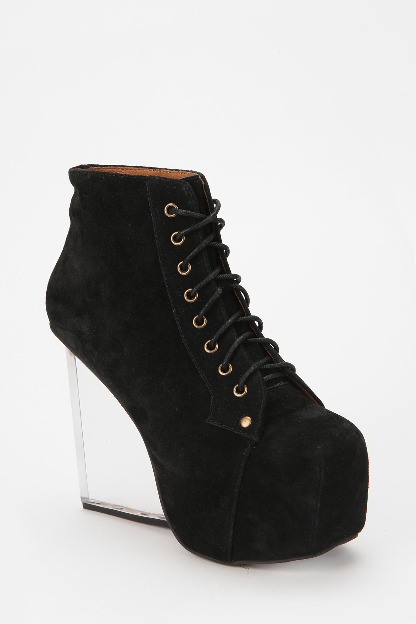 94774ae579b Jeffrey Campbell Dina Clear Wedge Suede Boot