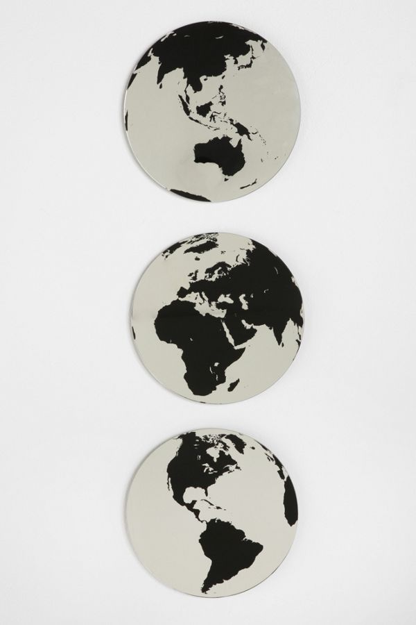 globe mirror set of 3 urban outfitters