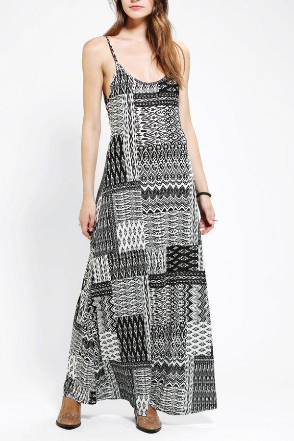 Staring At Stars Knit Cutout Maxi Dress Urban Outfitters