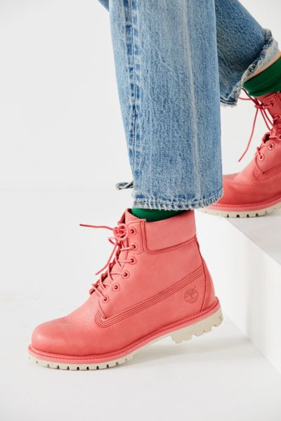 Timberland Premium Work Boot - Pink 6. at Urban Outfitters