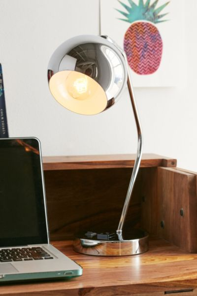 Gumball Desk Lamp - Silver One Size at Urban Outfitters